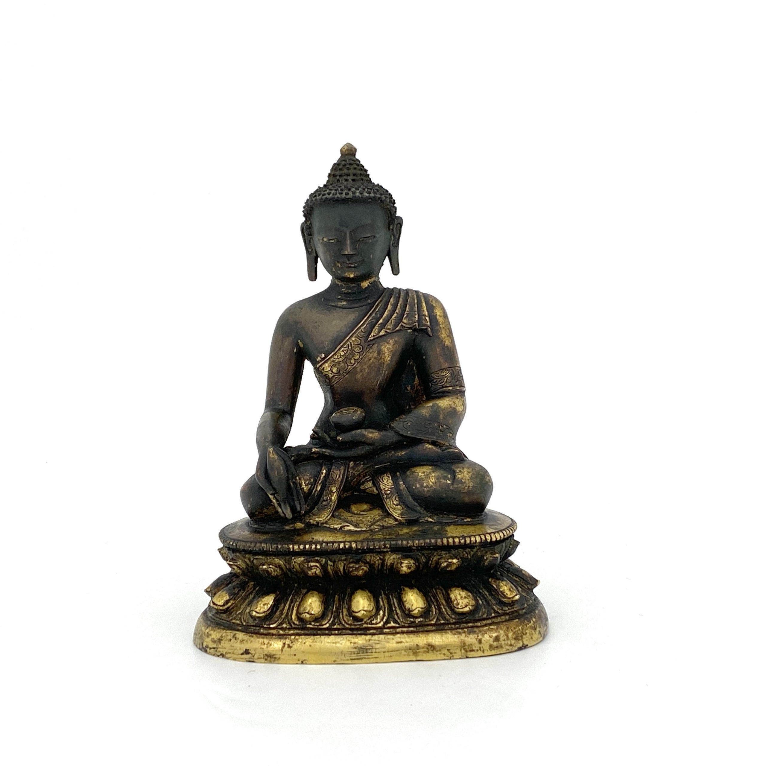 20095清康煕 銅鎏金 釋迦牟尼