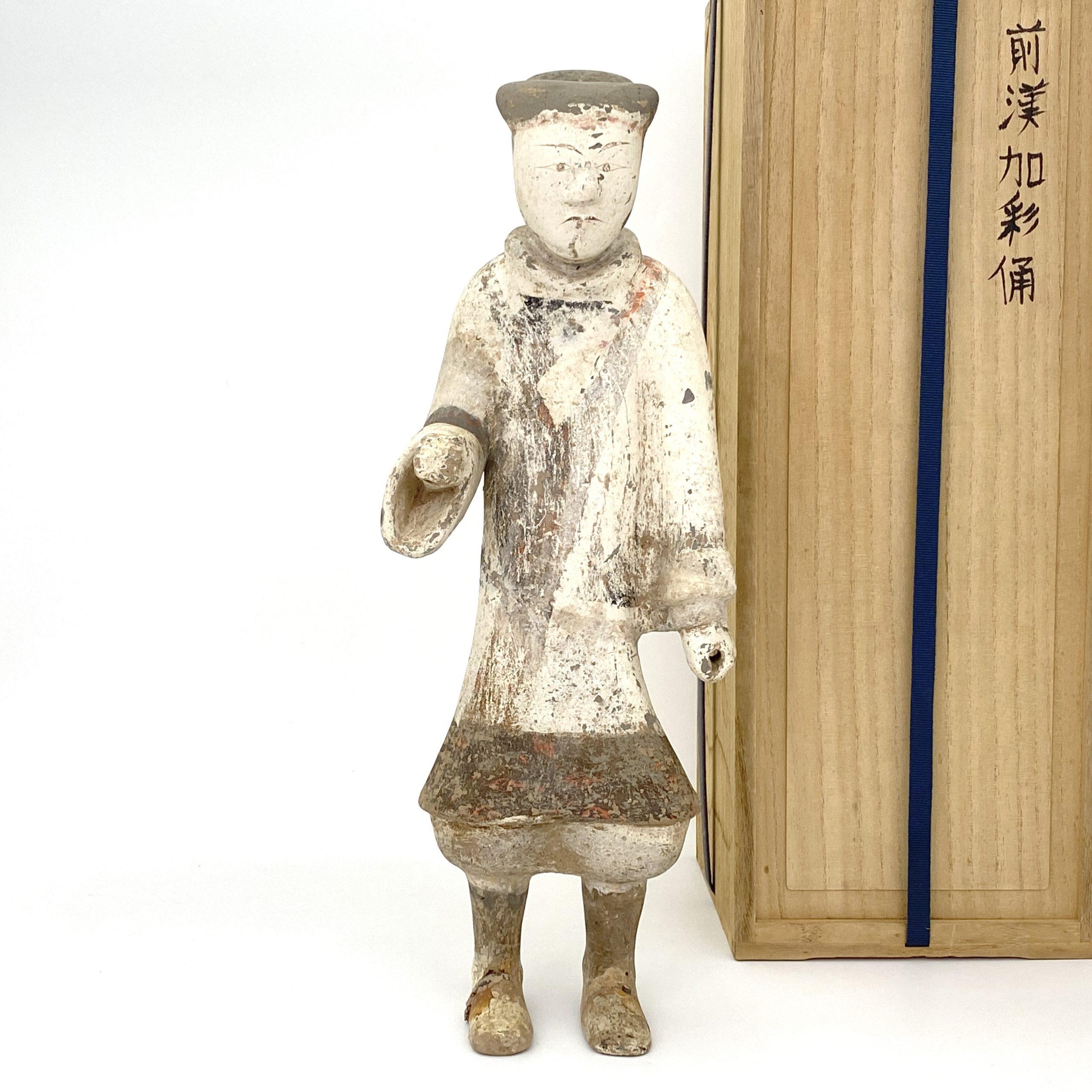 21038漢 加彩 人物俑