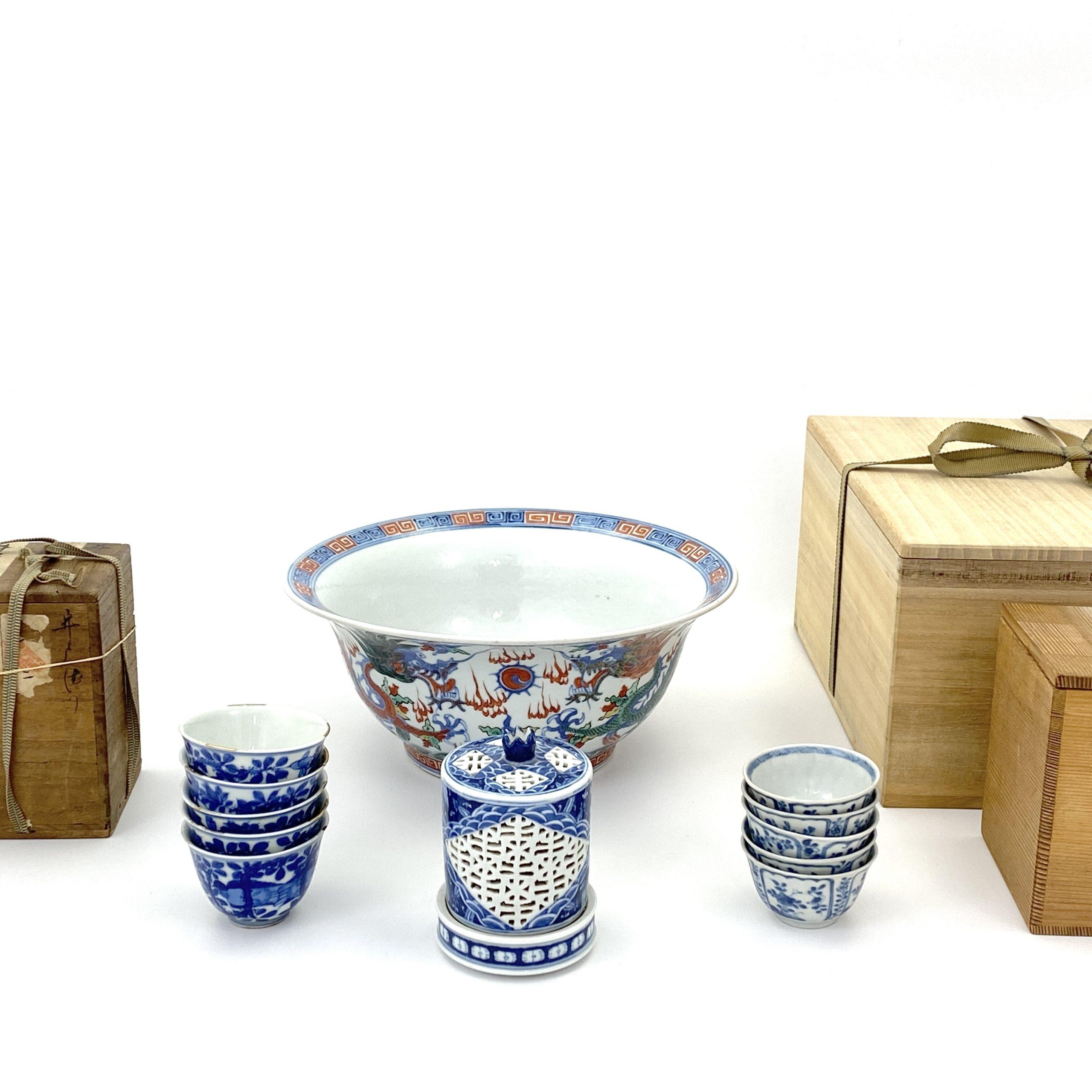 21042五彩 龍紋 鉢等 計4種