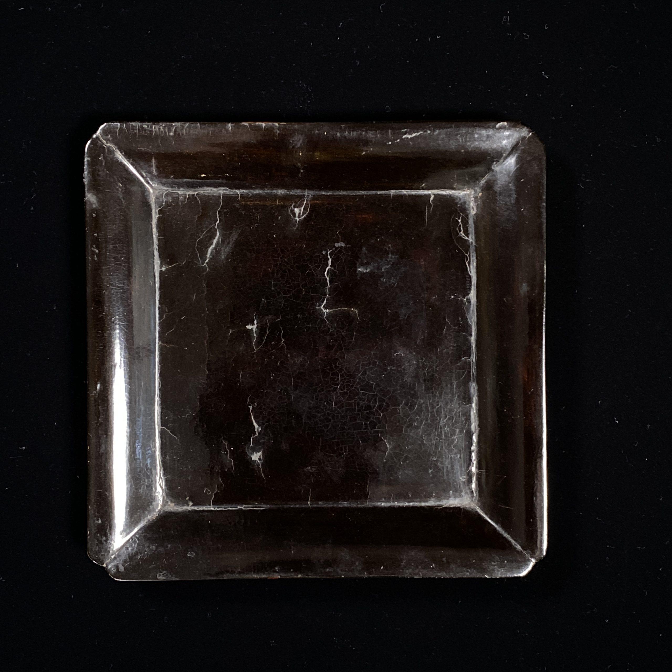 21480南宋「上元公用」款 黒漆 方盤