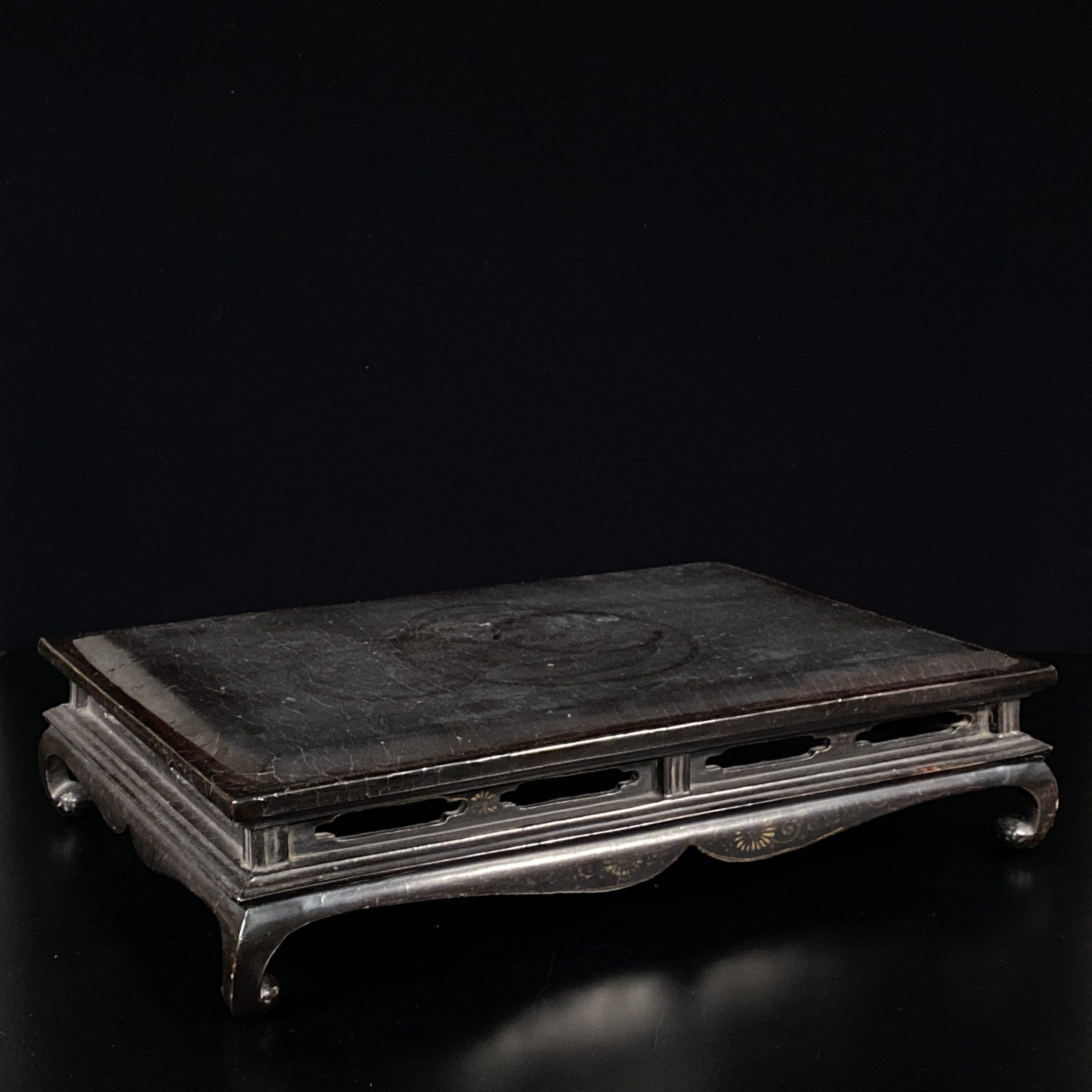 21489明 黒漆 長方桌