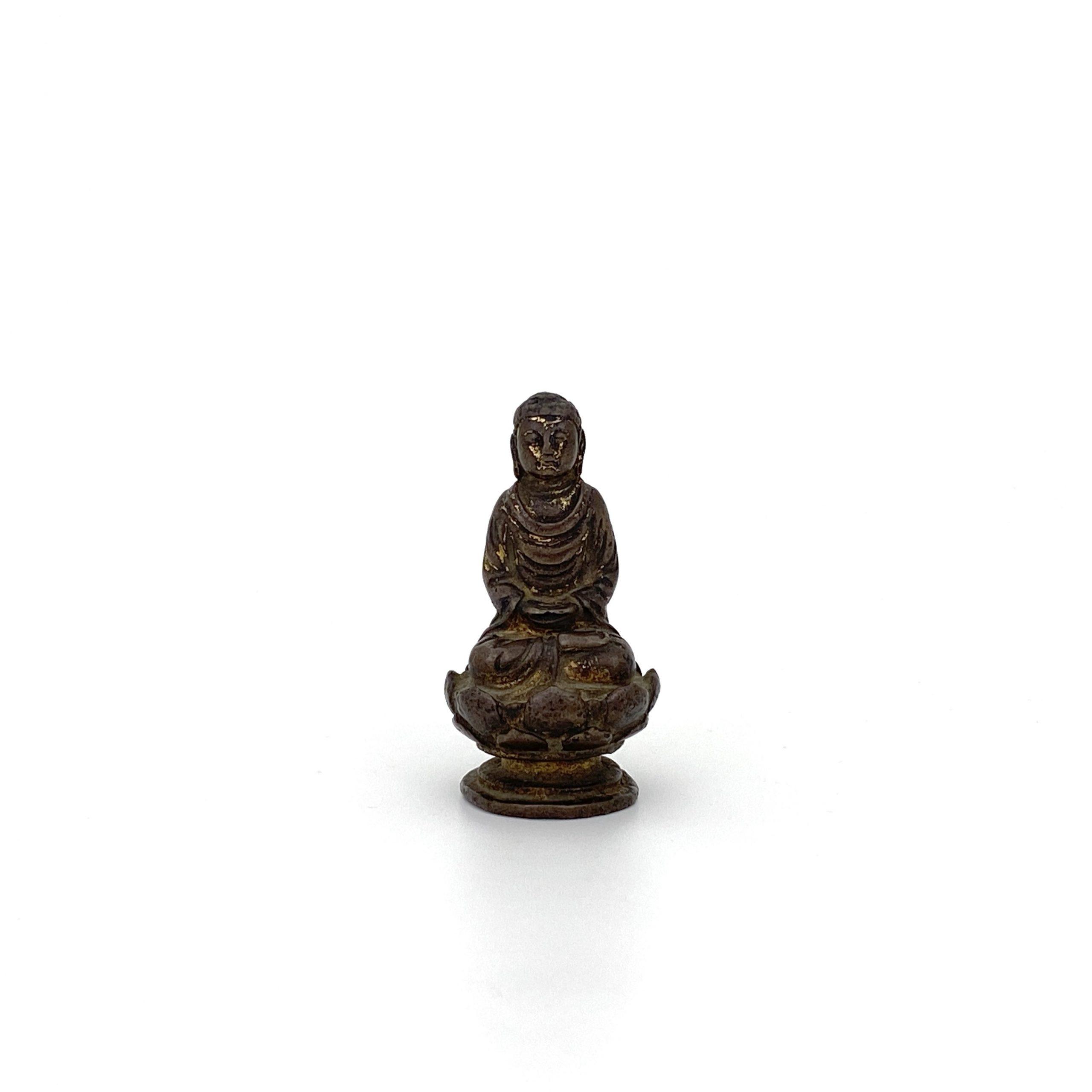 21494遼 青銅鎏金 菩薩坐像