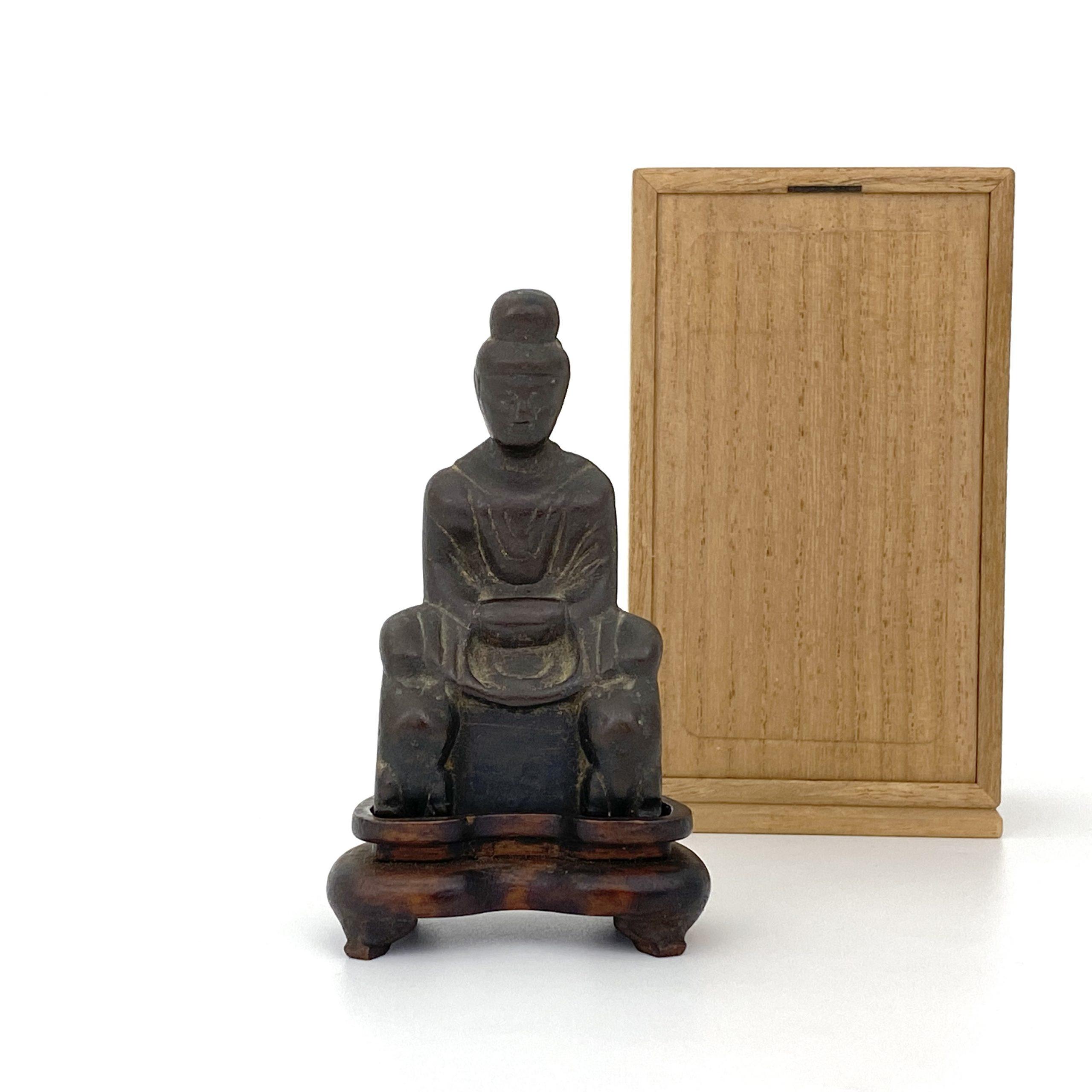 21495五胡十六国 青銅 菩薩坐像