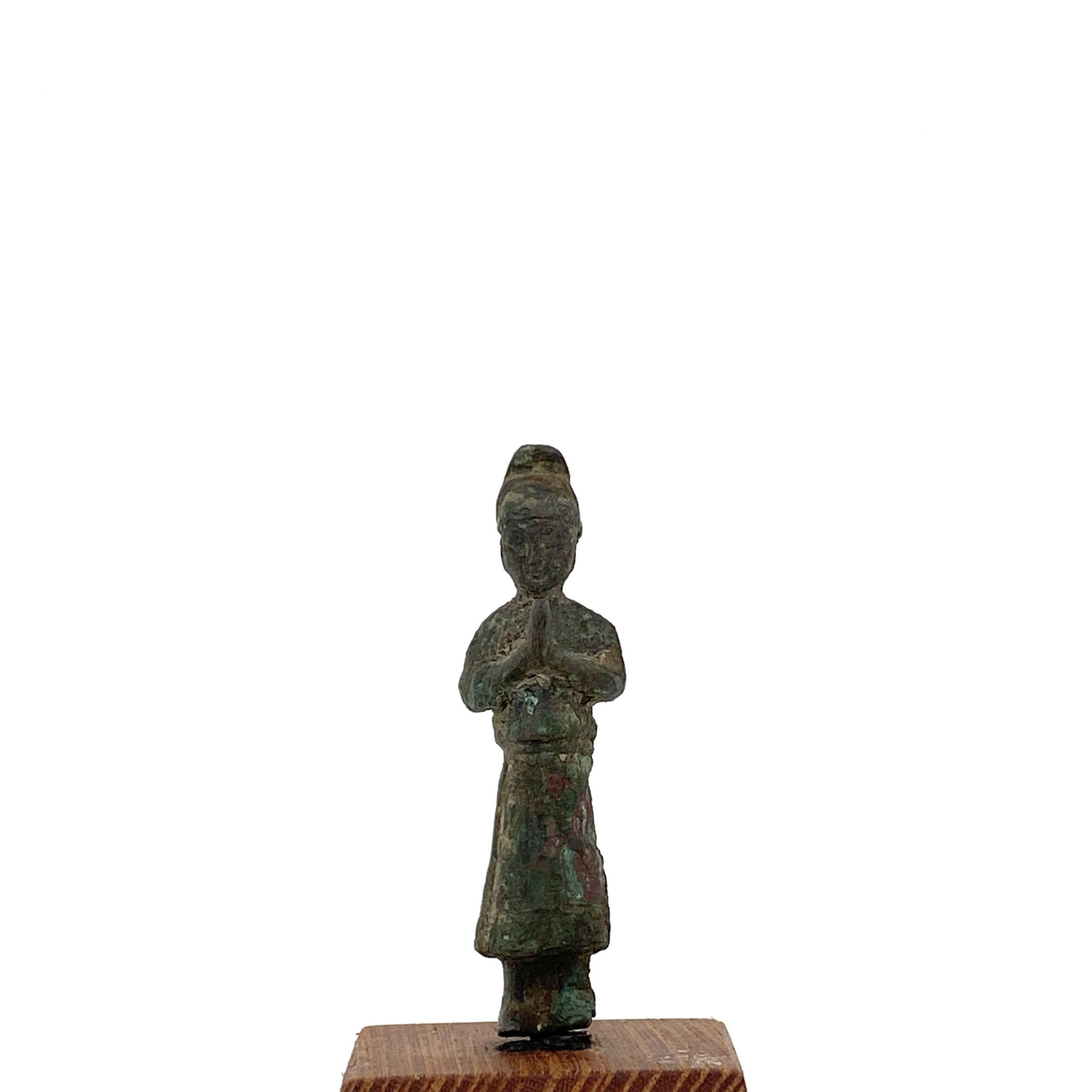 21496青銅 人物立像