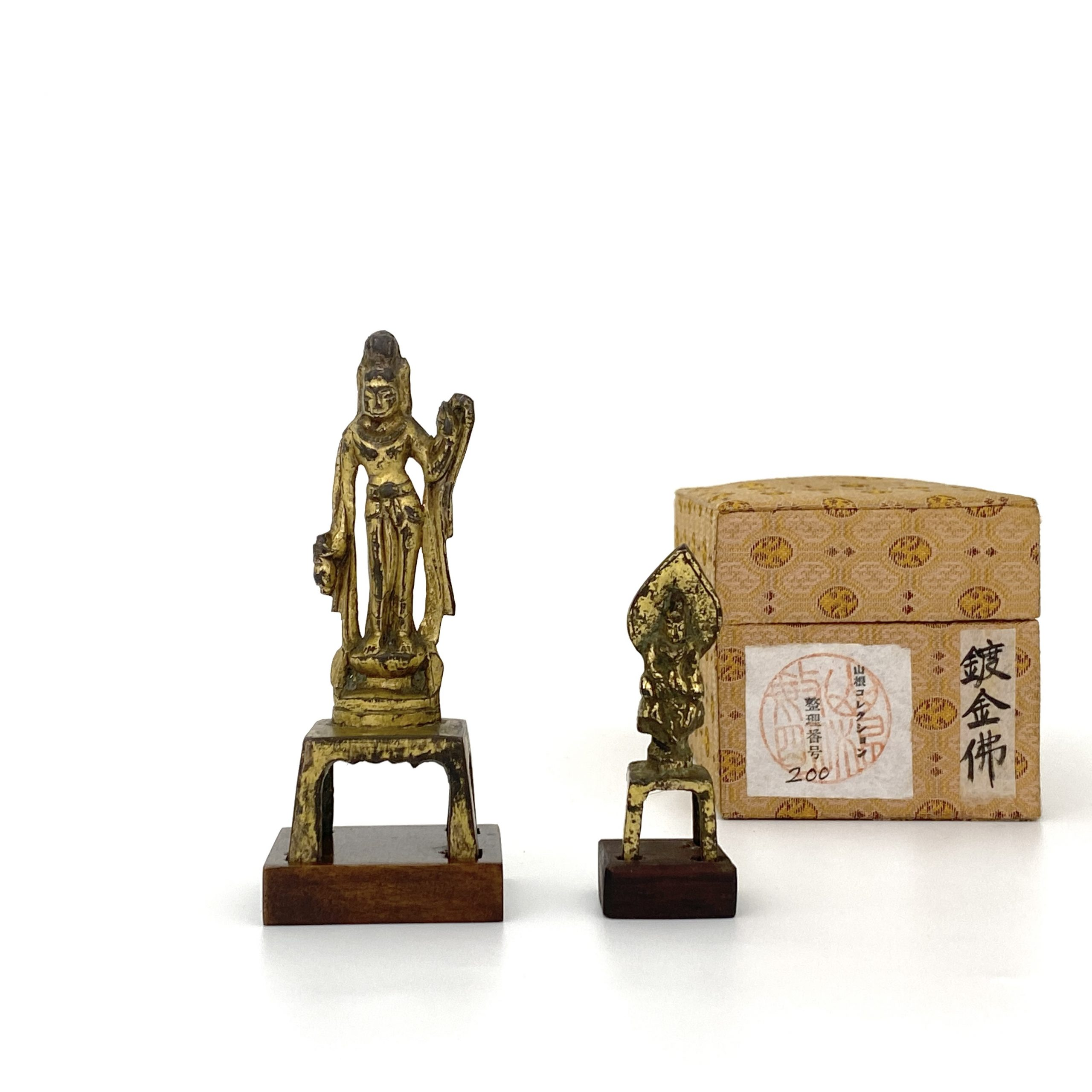 21499唐 青銅鎏金 観音立像等 計2件