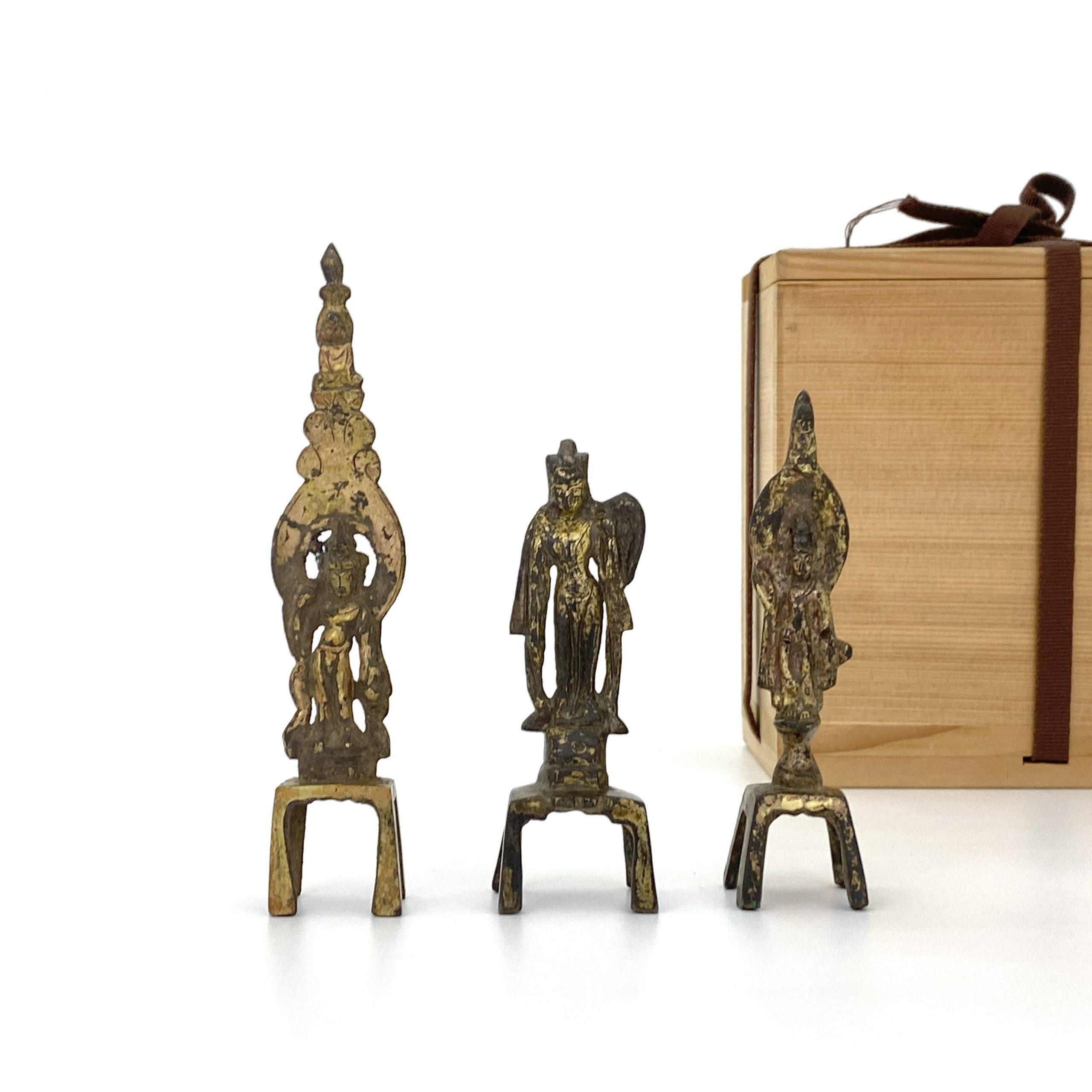 21500唐 青銅鎏金 観音 計3件