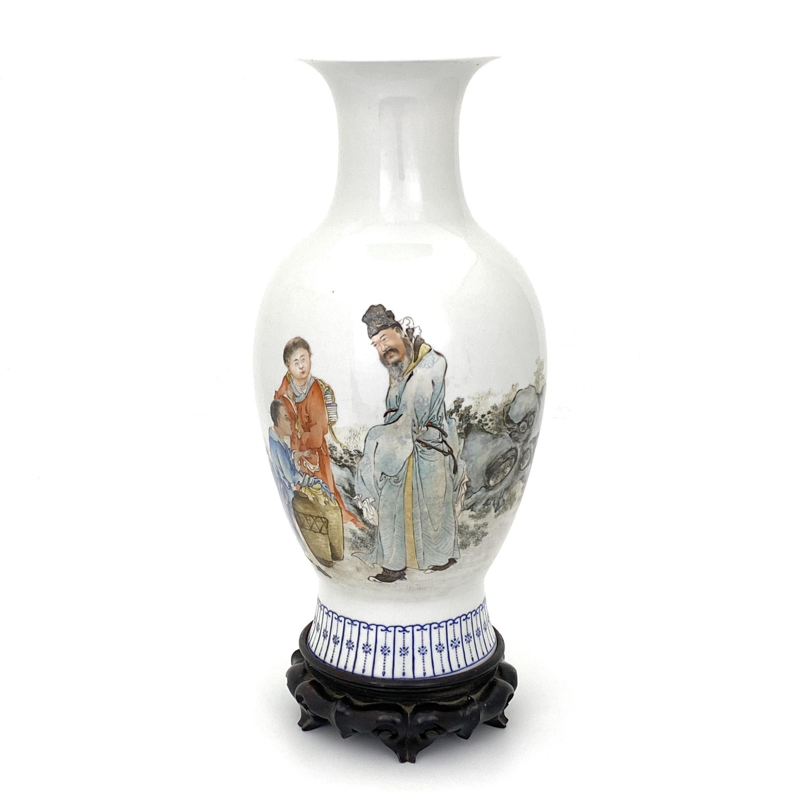 21677清「大清乾隆年製」款 粉彩 人物紋 瓶