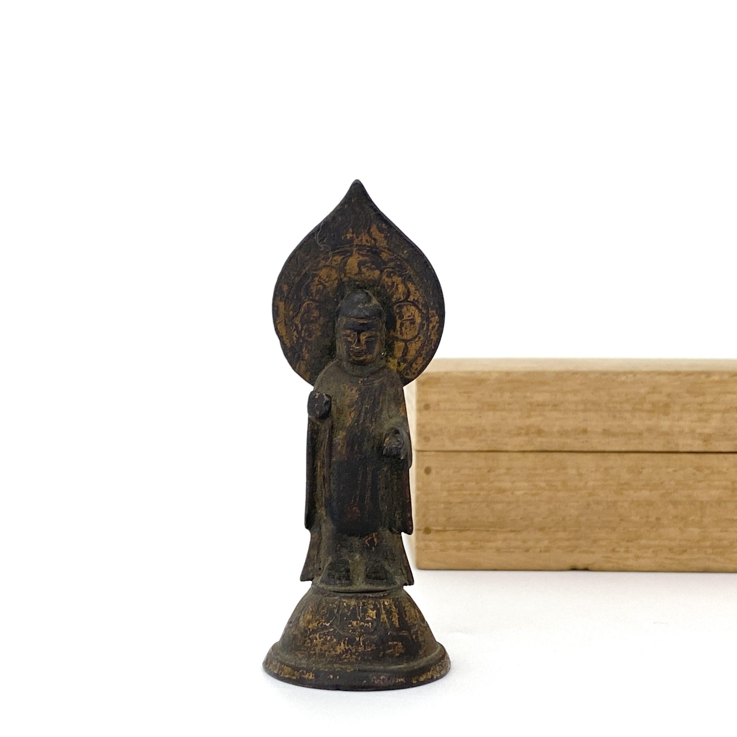21698唐或以前 青銅鎏金 菩薩立像 同一収蔵家 第17回網頁掲載品