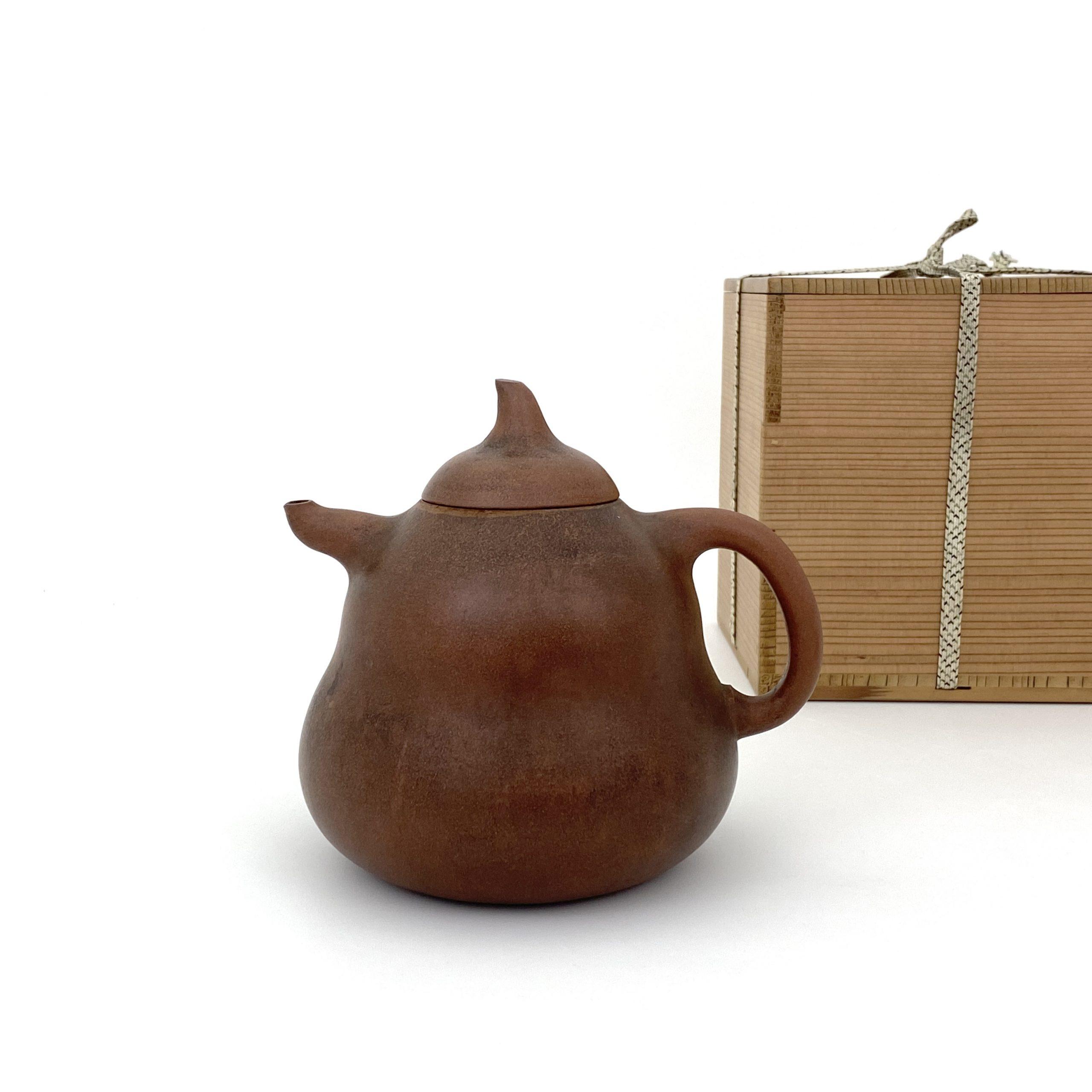21008清「陳用卿」造 朱泥 葫蘆形 茶壺 第17回網頁掲載品