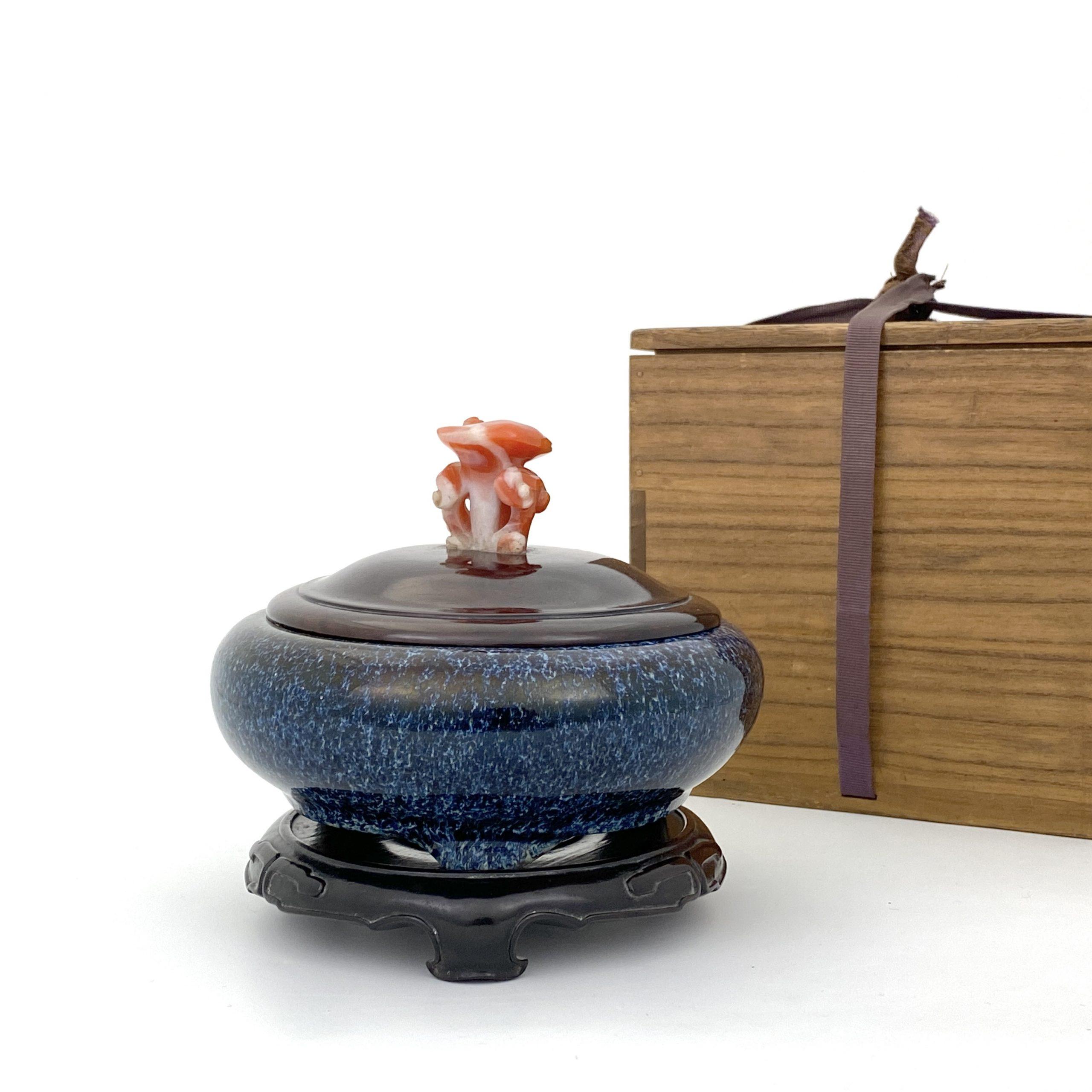 21086清 宜興 海鼠釉 三足爐