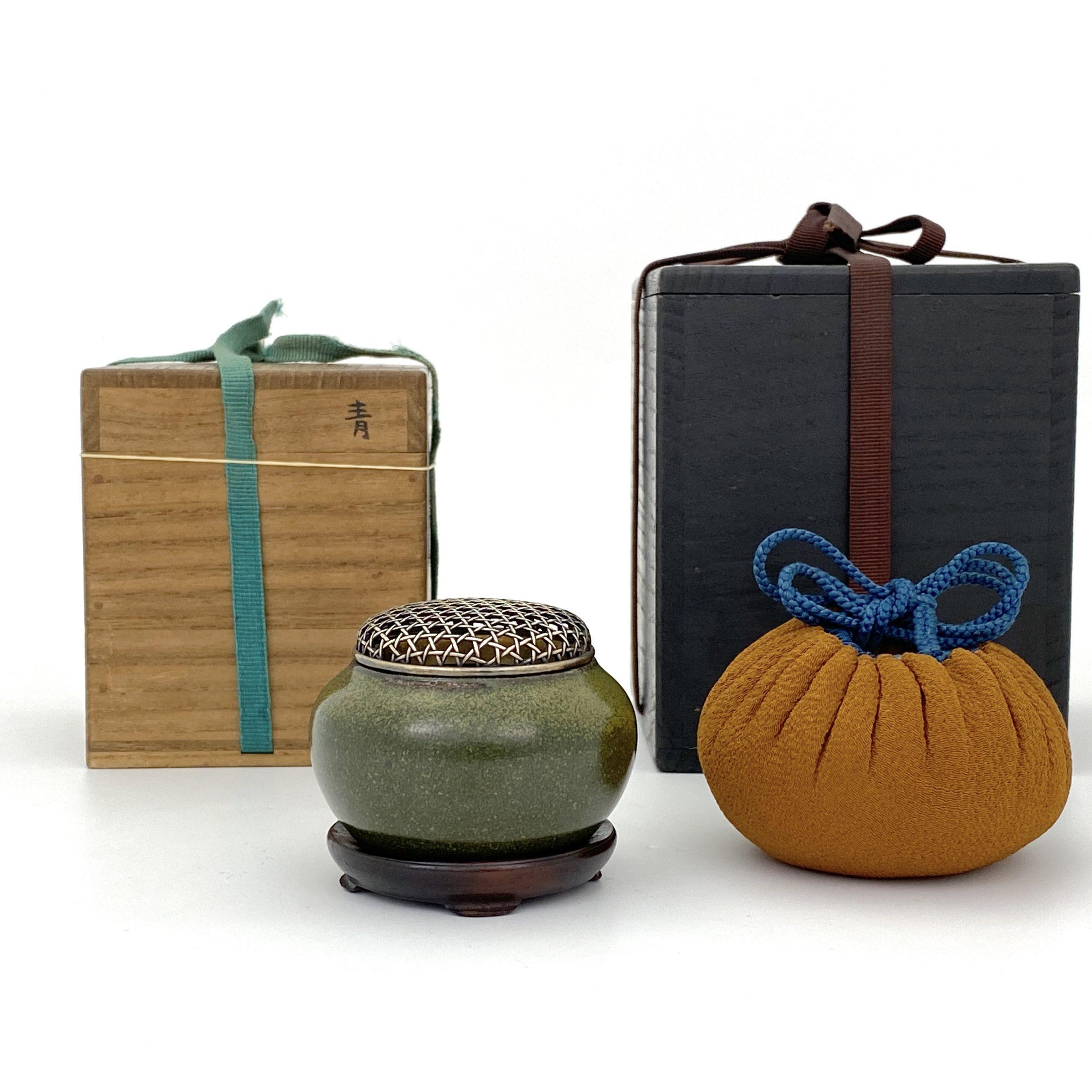 21087清中期 茶葉末釉 香爐 二重箱