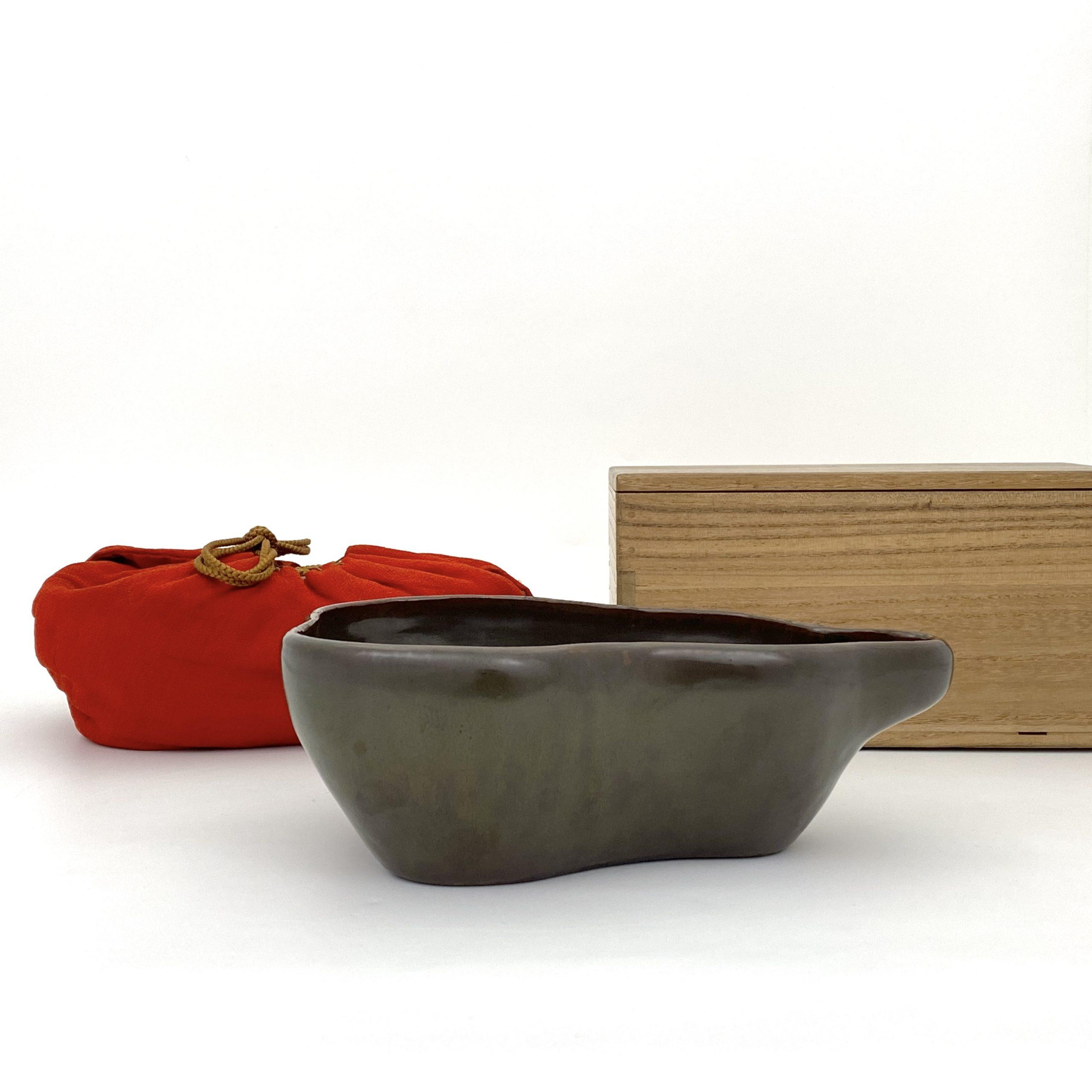 21089清「大明成化年製」款 茶葉末釉 葫蘆形 洗